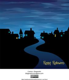 Noche de Halloween diseño de tarjeta
