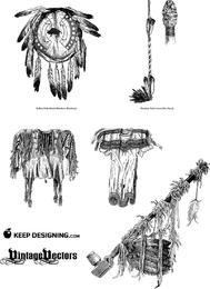 Native American Object Vectors