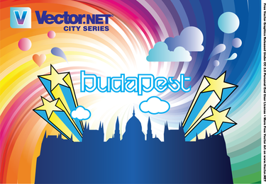 Vector de horizonte de la ciudad de Budapest