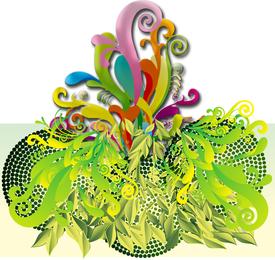 Projeto Multicolor Arabesque Vector