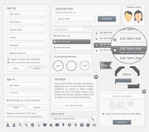 Diseño Web Navegación Menú 02 Vector