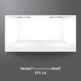 Showcase White Vector