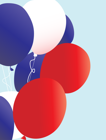 Red White And Blue Patriotic Balloons Vector