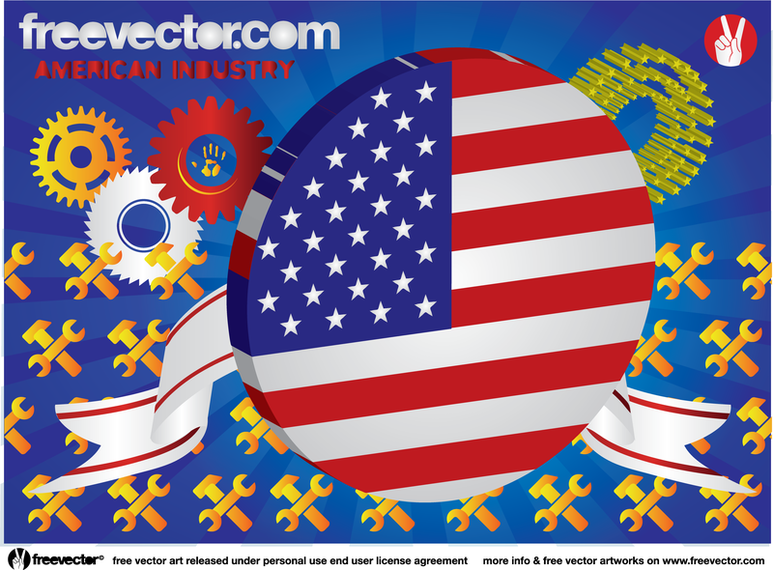 American Industry Objects Set