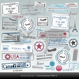 Passport Stamp Seal 05 Vector