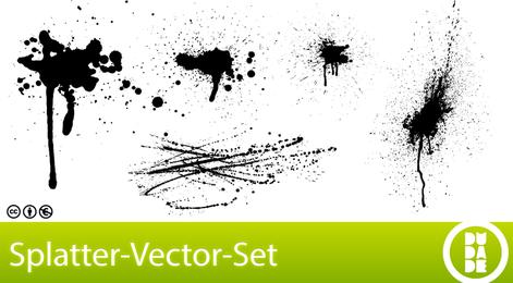 Conjunto de vetores de splatter grátis