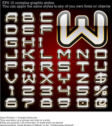 Vector Alphabet With Graphic Style