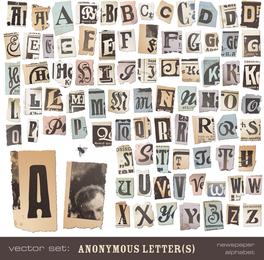 Carta De Periódico The Tears 01 Vector