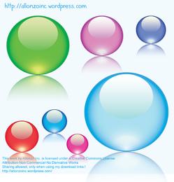 Mármoles de vidrio de colores