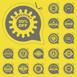 All Kinds Of Badge Labels 05 Vector