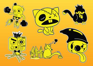 Los vectores de personajes de cómic