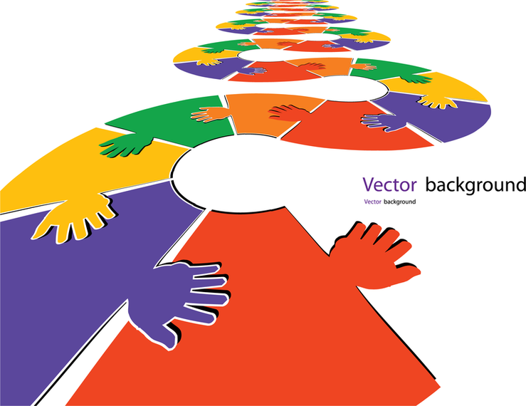 Puzzles Gesture Template 04 Vector