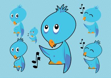 Vectores de aves de Twitter