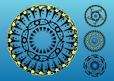 Circulos vectoriales de arte