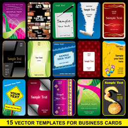 Brilliant Business Card Template 02 Vector