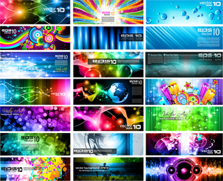 Brilliant Light Effects Dynamic Business Cards 02 Vector