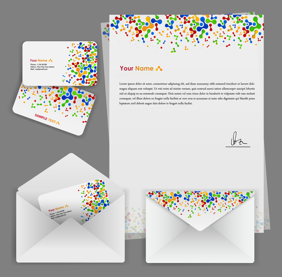 Colorful Business Template 02 Vector