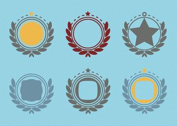 Decoraciones de la insignia del emblema retro