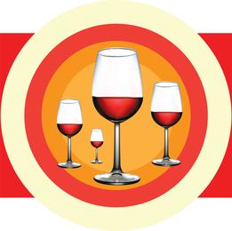 Ilustração de vinho tinto