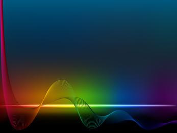 Brilliant Color Dynamic Flow Line 01 Vector