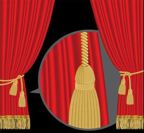 Vetor de cortina de palco