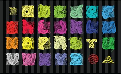 Série de Design de fonte 33 Vector