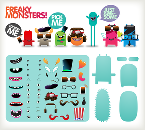 Free To Dress The Little Monster Vector
