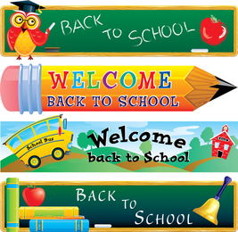 Cute School Theme Vector