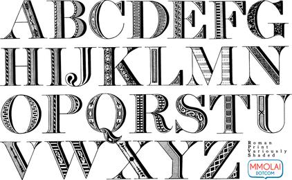 Vector Font Roman Print