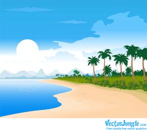Imagem de praia verão vetor