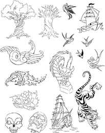 Tattoo Vector Set 4