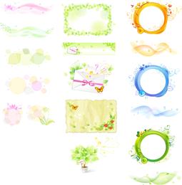 Vektor-Pflanzenelemente der Fantasie