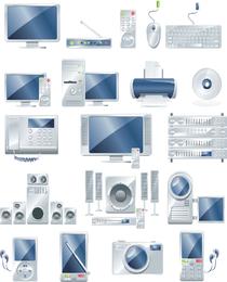 Vetor de produtos de escritório eletrônico