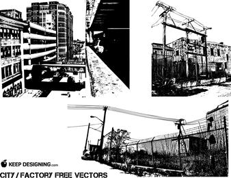 City Old Factory Vectors