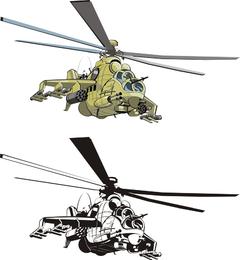 Helicópteros de combate Doe Vector