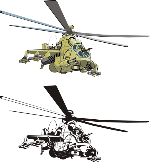 Combat Helicopters Doe Vector