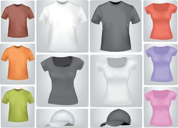 Hemden und T-Shirts des verschiedenen Art-Vektors
