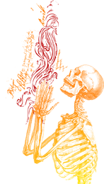 Esqueleto rezando