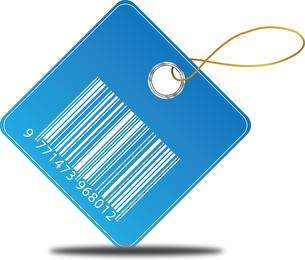 Etiqueta de precio de código de barras de vector libre