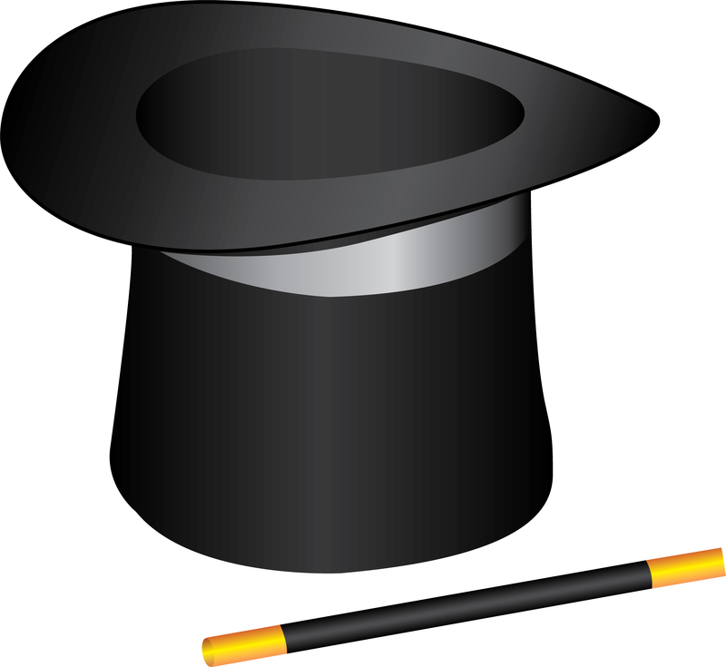 Free Vector Magic Hat And Wand - Vector download