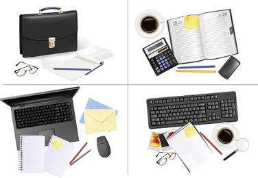 Office Supplies 03 Vector