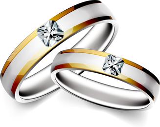 Precioso anillo de bodas 04 Vector