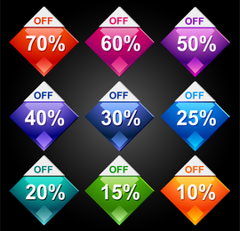 Behind The Discount Label 01 Vector