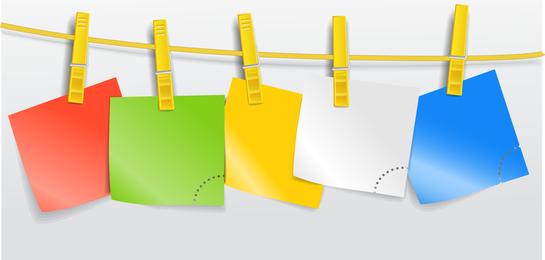 Papel en blanco en la cuerda 01 Vector