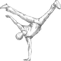 Baile figuras vectoriales