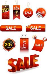 Botón de etiqueta de descuento de venta de vector