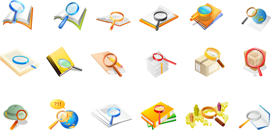 Office Supplies Magnifying Glass Of The Two Vector