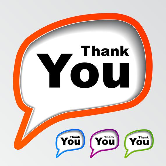 Thank You Dialog Box Vector