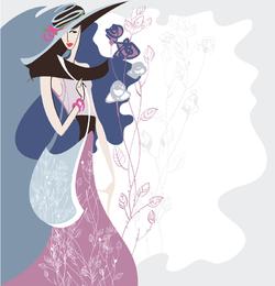 Moda Belleza Illustrator 05 Vector