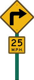 Placa de sinal Vector 447